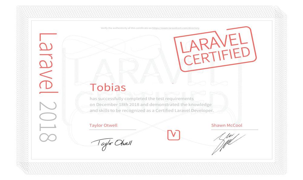 Certificado Laravel